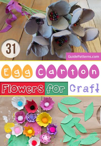 31 Egg Carton Flowers For Craft Guide Patterns