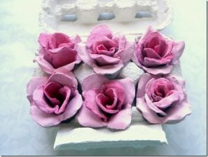 Egg Carton Flowers for Mother's Day