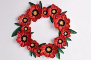 Egg Carton Poppy Wreath
