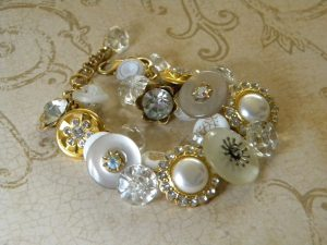 Glass Button Bracelet