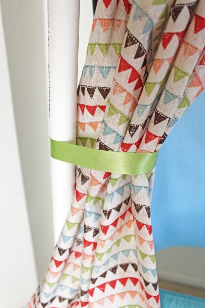 64 diy curtain tie backs guide patterns - Green curtain patterns ...