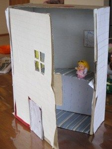 Homemade Cardboard Dollhouse