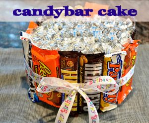 How to Build a Candy Bar Cake