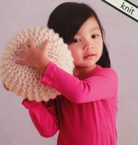 How to Knit a Pouf