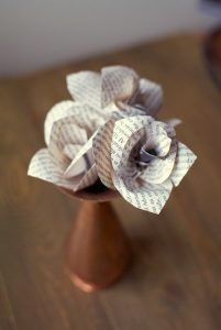 How to Make Newspaper Flowers
