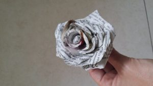 How to Make a Newspaper Flower Step by Step