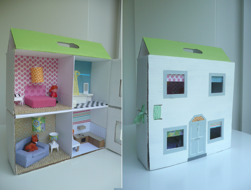 13 Cardboard Dollhouse Plans | Guide Patterns