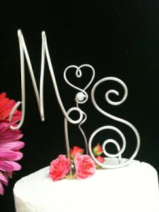 Letters on Wire for Cake