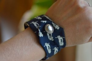 Necktie Button Bracelet