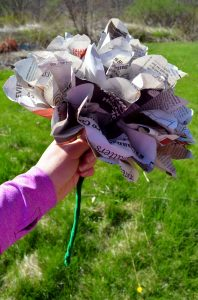 Newspaper Flower Craft