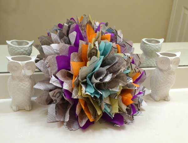 10 diy newspaper flowers
