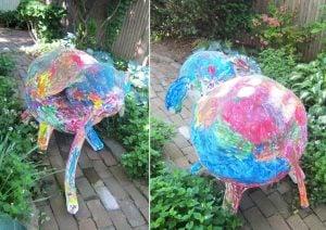 Paper Mache Balloon Elephant