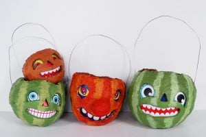 Paper Mache Balloon Faces