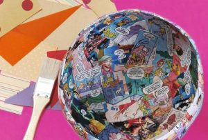 Paper Mache Bowl with Balloon