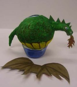 Paper Mache Dragon Balloon