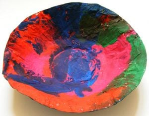 Paper Mache Plate and Bowl