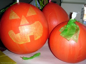 Paper Mache Pumpkins Using Balloons