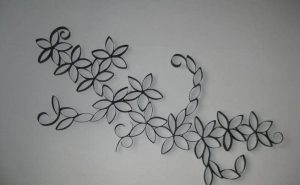 Toilet Paper Roll Flower Wall Art