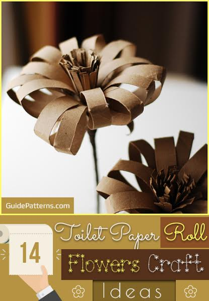 14 toilet paper roll flowers craft ideas guide patterns mightylinksfo