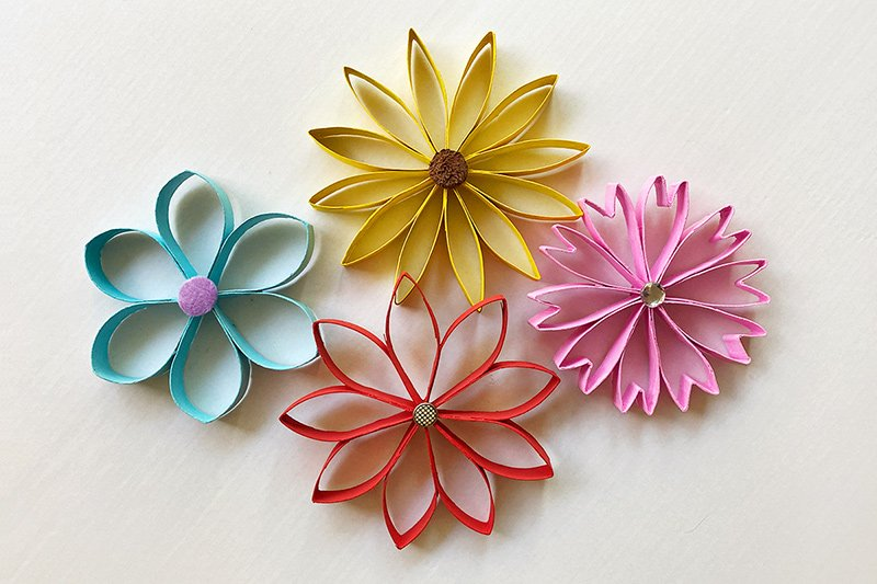14 toilet paper roll flowers craft ideas guide patterns toilet paper roll flowers mightylinksfo Choice Image