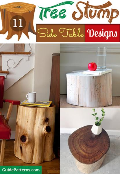 Surprising 11 Tree Stump Side Table Designs Guide Patterns Home Interior And Landscaping Oversignezvosmurscom
