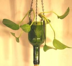Wine Bottle Planter DIY