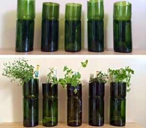 Wine Bottle Planters Garden Junk