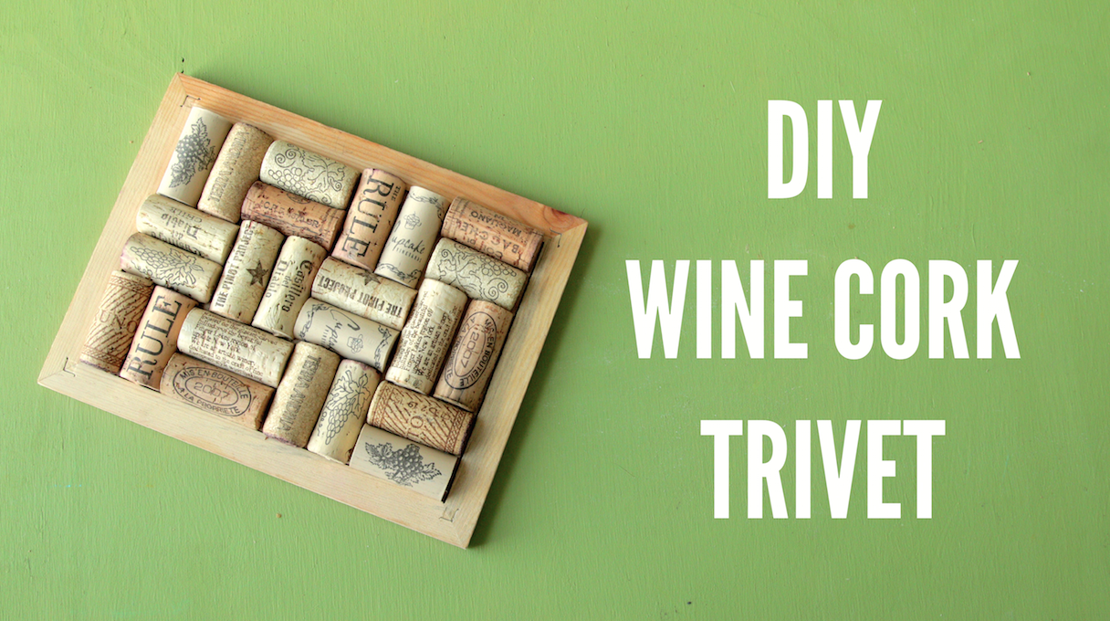 Wine cork trivet 15 interesting ways to make guide patterns for Making a cork board from wine corks