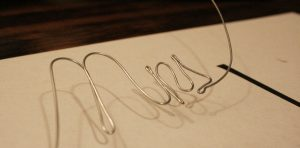 Wire Bending Letters