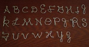 Wire Alphabet Letters