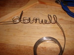 DIY Wire Letters