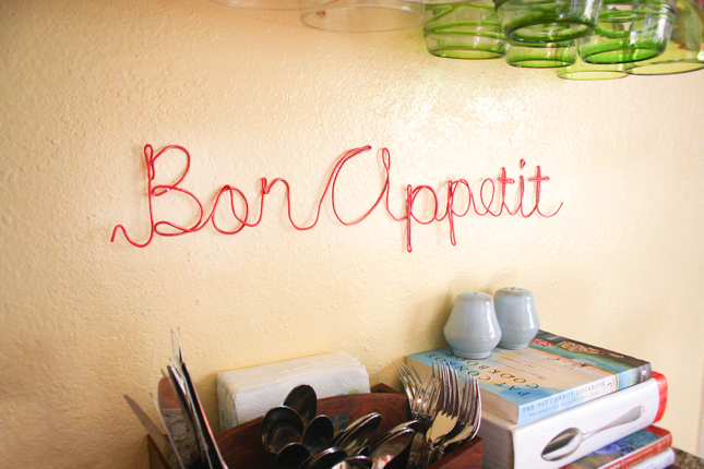 Wire Letters Wall Decor