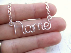 Wire Name Jewelry Letters