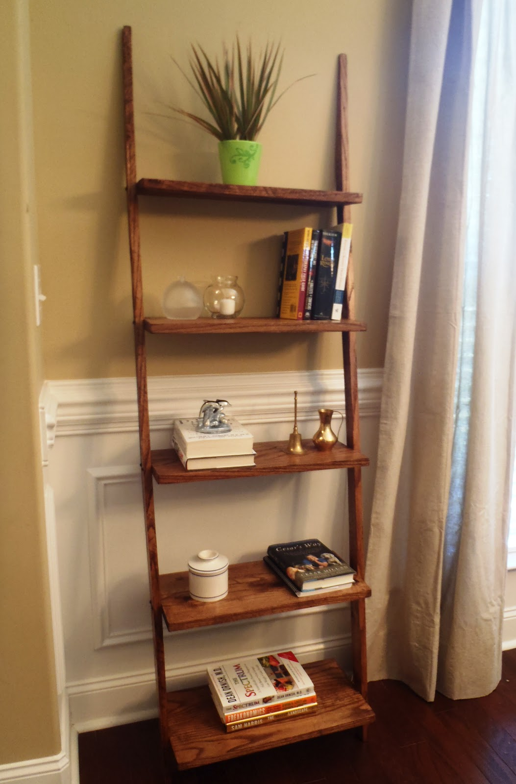 5 tier bookshelf ladder - Picture Of Book Shelf