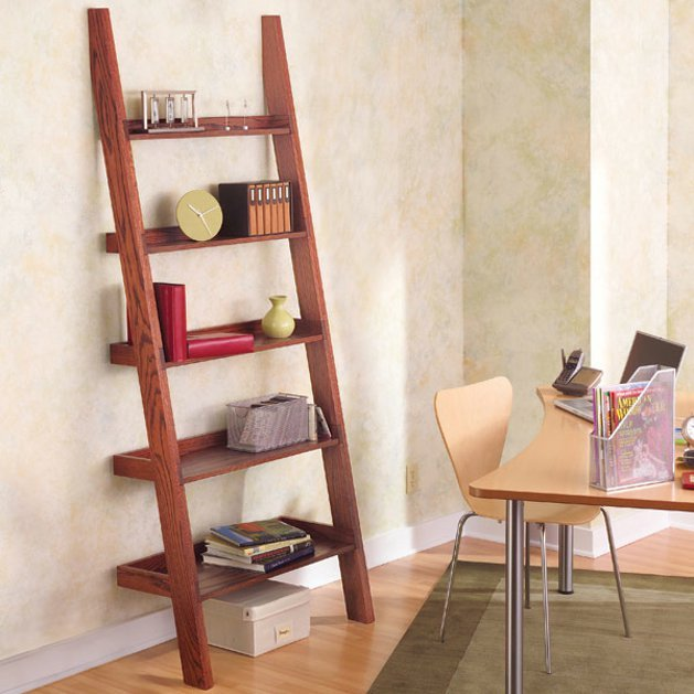 24 ladder bookshelf plans guide patterns. Black Bedroom Furniture Sets. Home Design Ideas