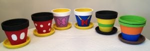 Disney Painted Flower Pots