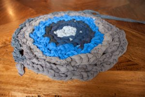 Finger Crochet T-Shirt Rug
