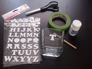 Glass Etching Stencils Letters