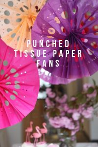 How to Make Tissue Paper Fans