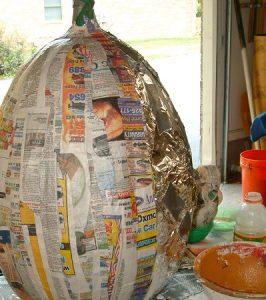 Large Paper Mache Pumpkin