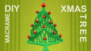 Macrame Christmas Tree Wall Hanging