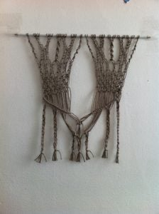 Macrame Pattern Wall Hanging