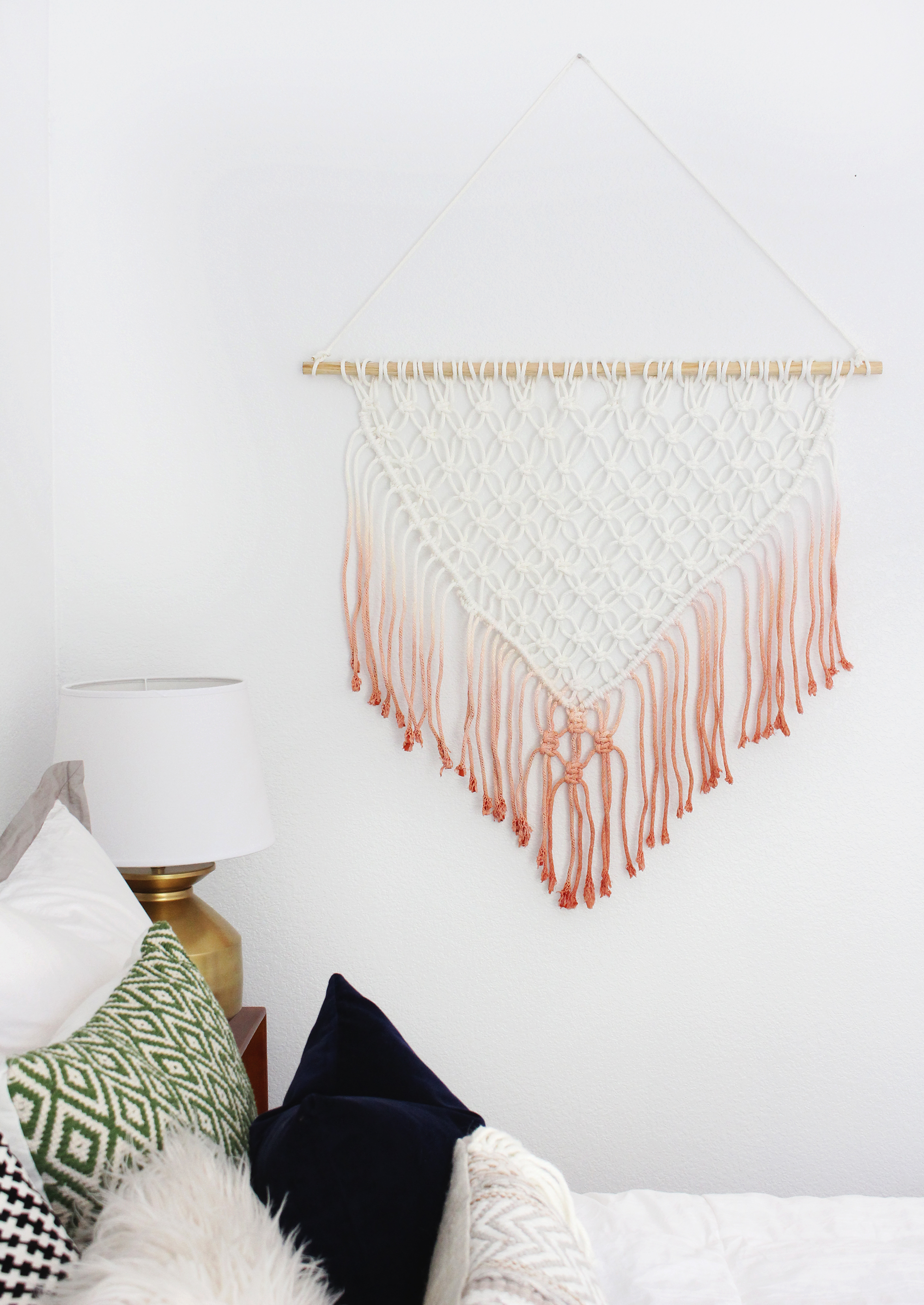 Cortina de macramé, tutorial • macrame curtain from a beautiful ...