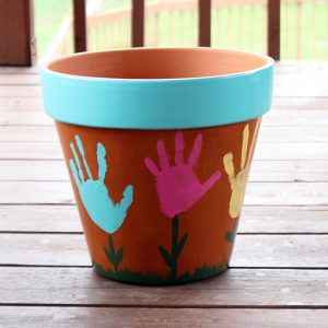 Painted Flower Pot for Mother's Day