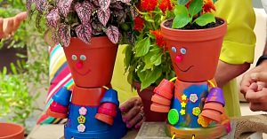 Painted Flower Pot People