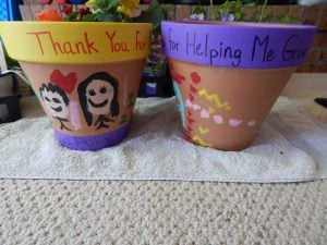 Painted Flower Pot for Teacher