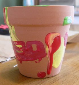 Painted Flower Pot Kid
