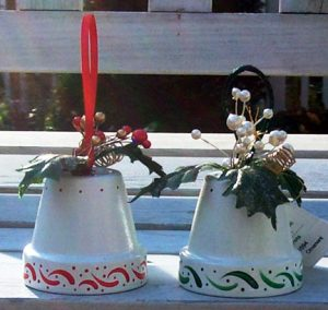 Painted Flower Pots for Christmas