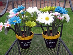 Painted Flower Pots for Teachers