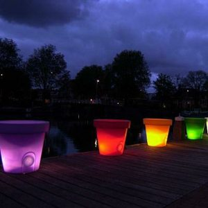 Painted Flower Pots that Glow in the Dark